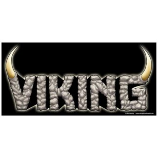 Viking logo sticker on black