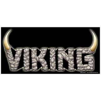 Viking logo sticker on black
