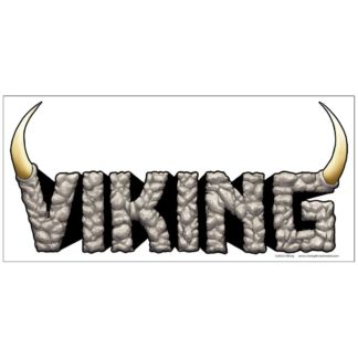 Viking logo sticker on white