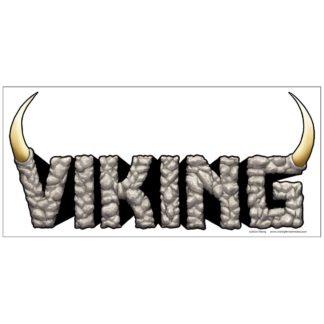 Viking logo sticker on white