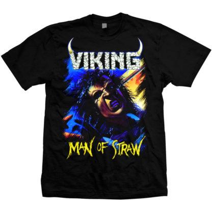Viking Man of Straw color on black tshirt