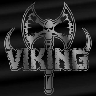 Viking axe and logo sticker